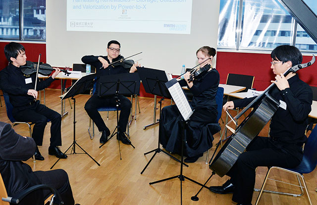 Tokyo Tech and RWTH Aachen students' string quartet performance