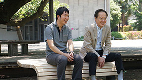 Ookayama gets first Campus Environment Fund bench