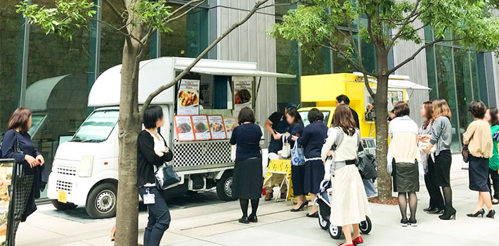 Food trucks to serve lunch