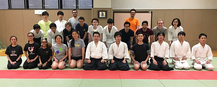 Program participants with members of Tokyo Tech's Aikido Club