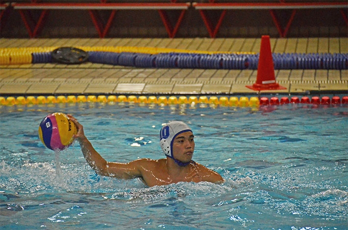 Tokyo Tech student top scorer in Kanto Students' Water Polo League