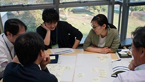 DLab members brainstorm future products and services with business figures