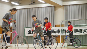 Women cycle-ballers inaugural champions at all-Japan contest