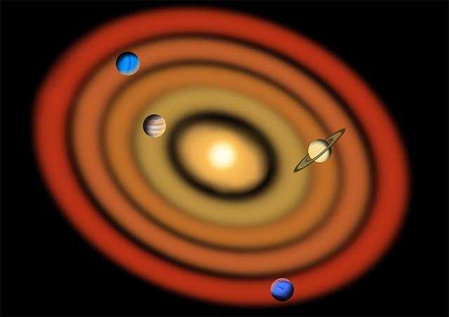 Giant planet formation in the solar system