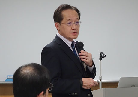 President Masu speaking