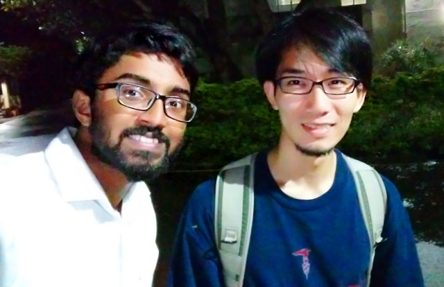 Hayata (right) and Salika who joined Tokyo Tech AOTULE Summer Program 2019