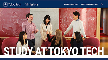 Student Ambassadors' blog highlight of new Admissions website