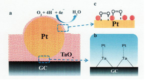 Tantalum oxide nanoparticles based Pt nanoparticles as efficient catalysts for polymer electrolyte fuel cells