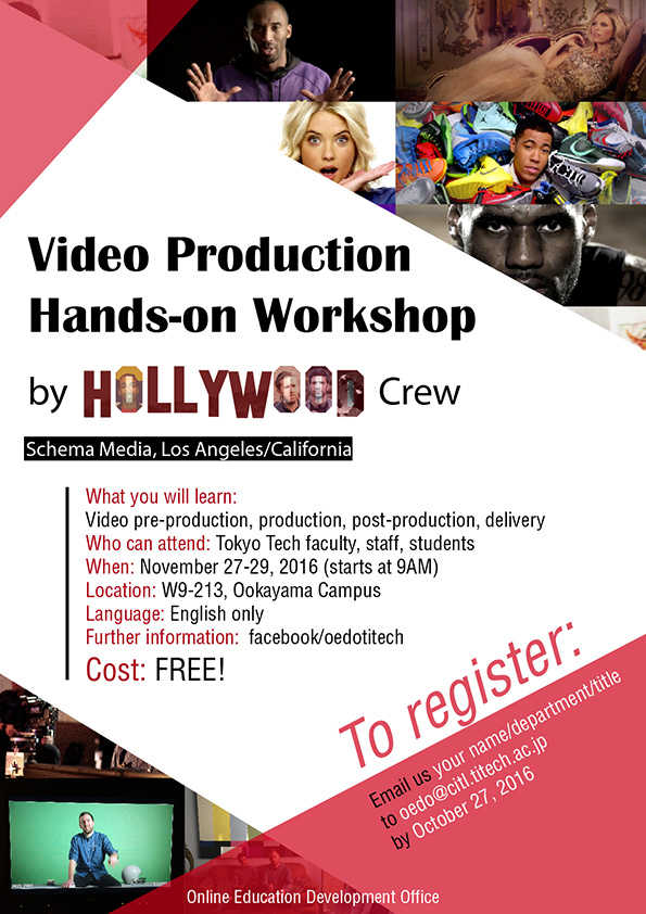 Video Production Workshop by HOLLYWOOD flyer