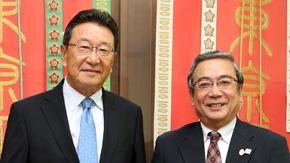 駐カタール日本国大使が三島学長を表敬訪問