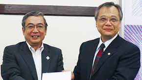 国立台湾科技大学副学長が三島学長を表敬訪問