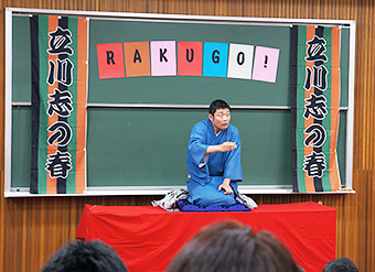 Shinoharu's performance of having good sake