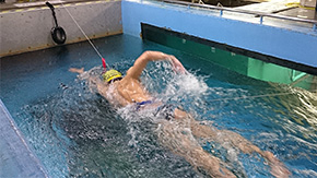 遊泳中のスイマーにかかる抵抗を推定する方法を開発―スイマーの抵抗は泳速の3乗に比例する―