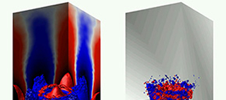 Thermoacoustic instability: Direct numerical simulations in turbulent swirling premixed flames