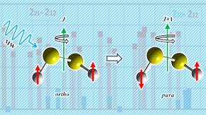 分子のオルト-パラ核スピン異性体間の光学遷移の検出に成功