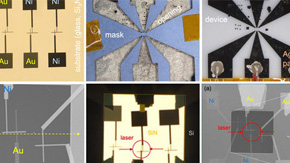 ナノ薄膜上に高速応答の温度センサーを製作