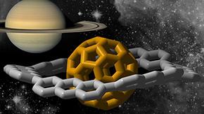 炭素と水素から土星形の分子をつくる