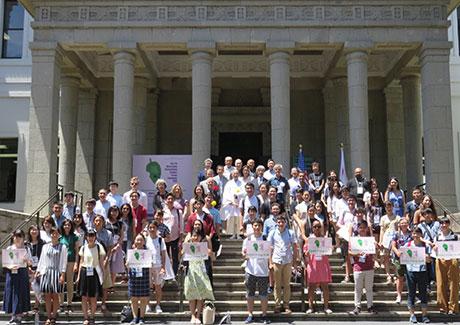 大倉山国際学生フォーラム横浜での集合写真