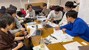 Hisao & Hiroko Taki Plazaのフロアコンセプトを学生グループが考案